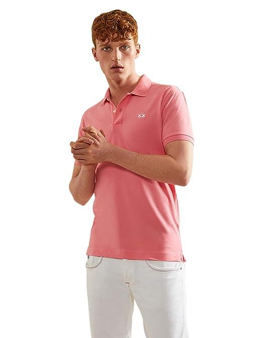 La Martina Hombres Camisa de Polo Scottie Fit Slim Color De Rosa ...