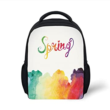 96f92e939401 Amazon.com: iPrint Kids School Backpack Quote Decor,Spring Lettering ...