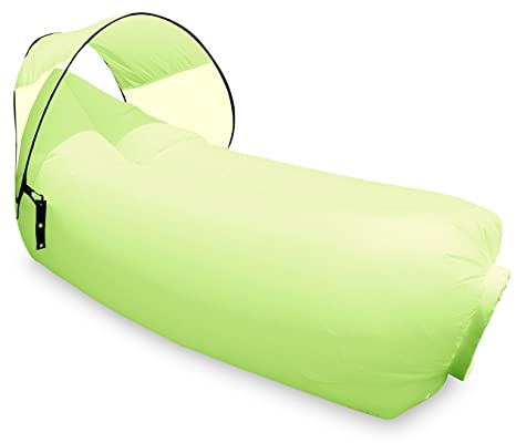 Harvestores Inflatable Air Lounger Sofa Bean Bag Hammock with Shade