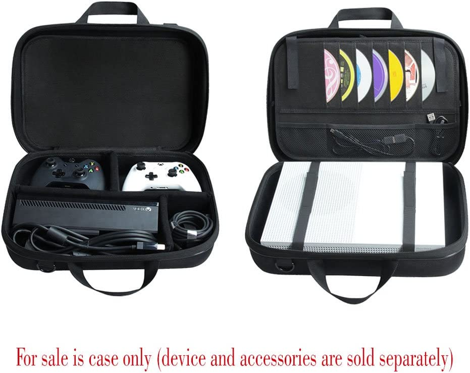 Wireless Controller Hermitshell Hard EVA Travel Case Fits Microsoft Xbox One S Game Console Kinect Sensor