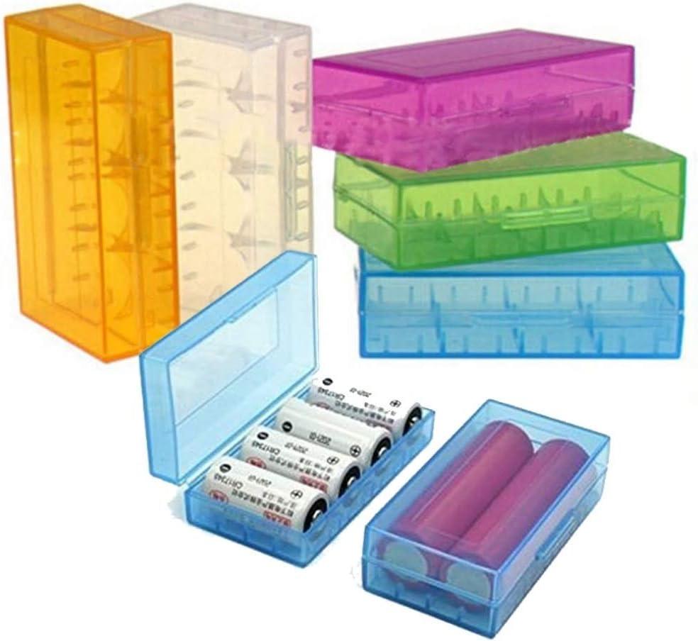 Caja contenedor para Pilas 18650 CR123A Pilas Recargables Caja Funda: Amazon.es: Electrónica