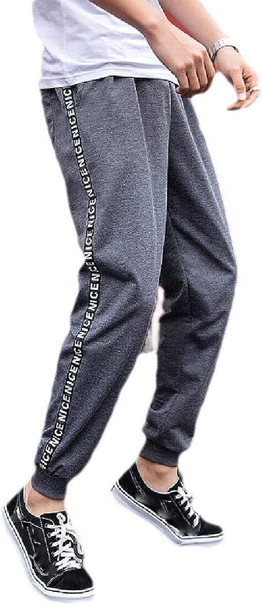 Romancly メンズカジュアルプラスサイズハーレムスポーツベーシックコットンジョガーズパンツ
