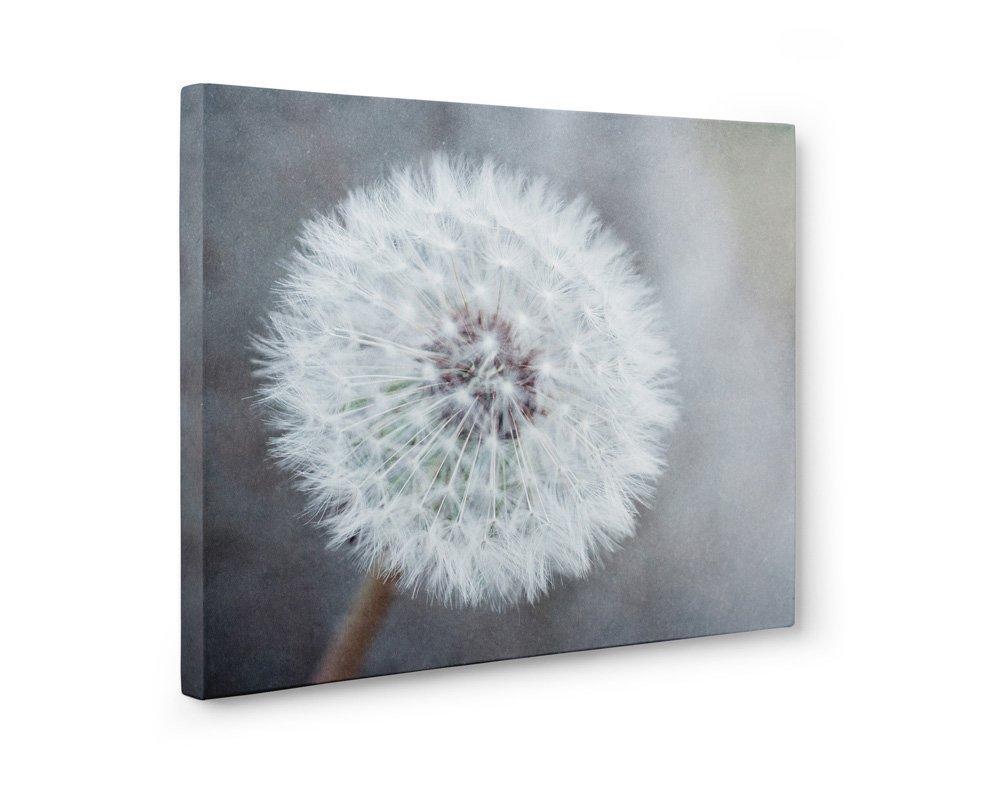 Large Format Prints, Canvas or Unframed Neutral Floral Wall Decor, 'Dandelion King'