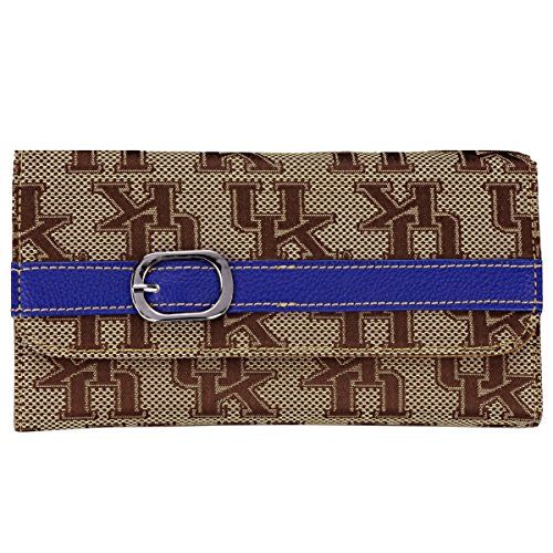 Kentucky Wildcats Jacquard Fabric Ladies Wallet Leather Strap ()