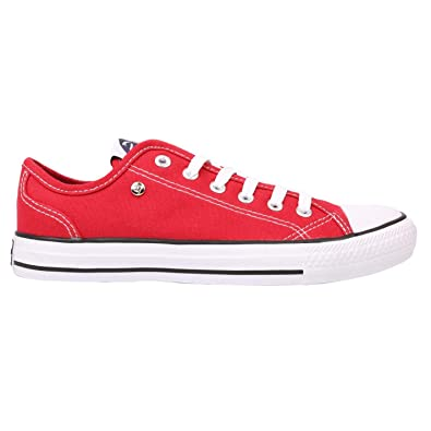 7aeb96652ea24 Ladies Casual Full Lace Up Canvas Low Trainers Shoes (6 (39), Red/White):  Amazon.co.uk: Shoes & Bags