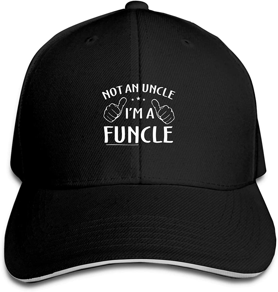 Not an Uncle Im A Funcle Classic Adjustable Cotton Baseball Caps Trucker Driver Hat Outdoor Cap Black