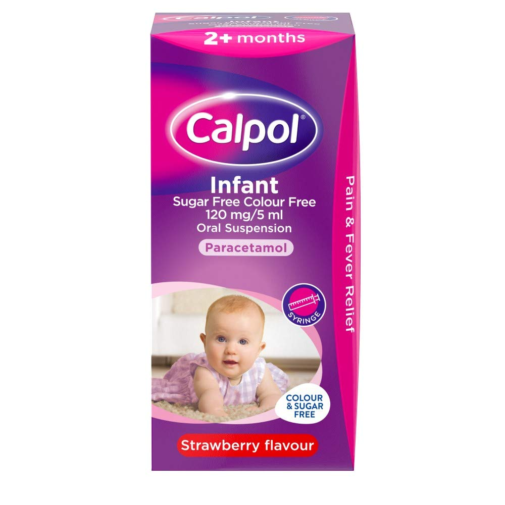 Calpol Sugar Free & Colour Free Strawberry Flavour, 100ml