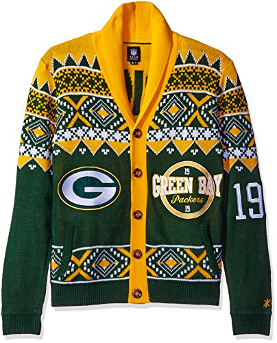 Green Bay Packers 2015 Ugly Cardigan Large
