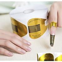 AKOAK 100 Pieces Horseshoe-shaped Nail Art Acrylic Nail / UV GEL Nail Extention Tips Form Guide Sticker