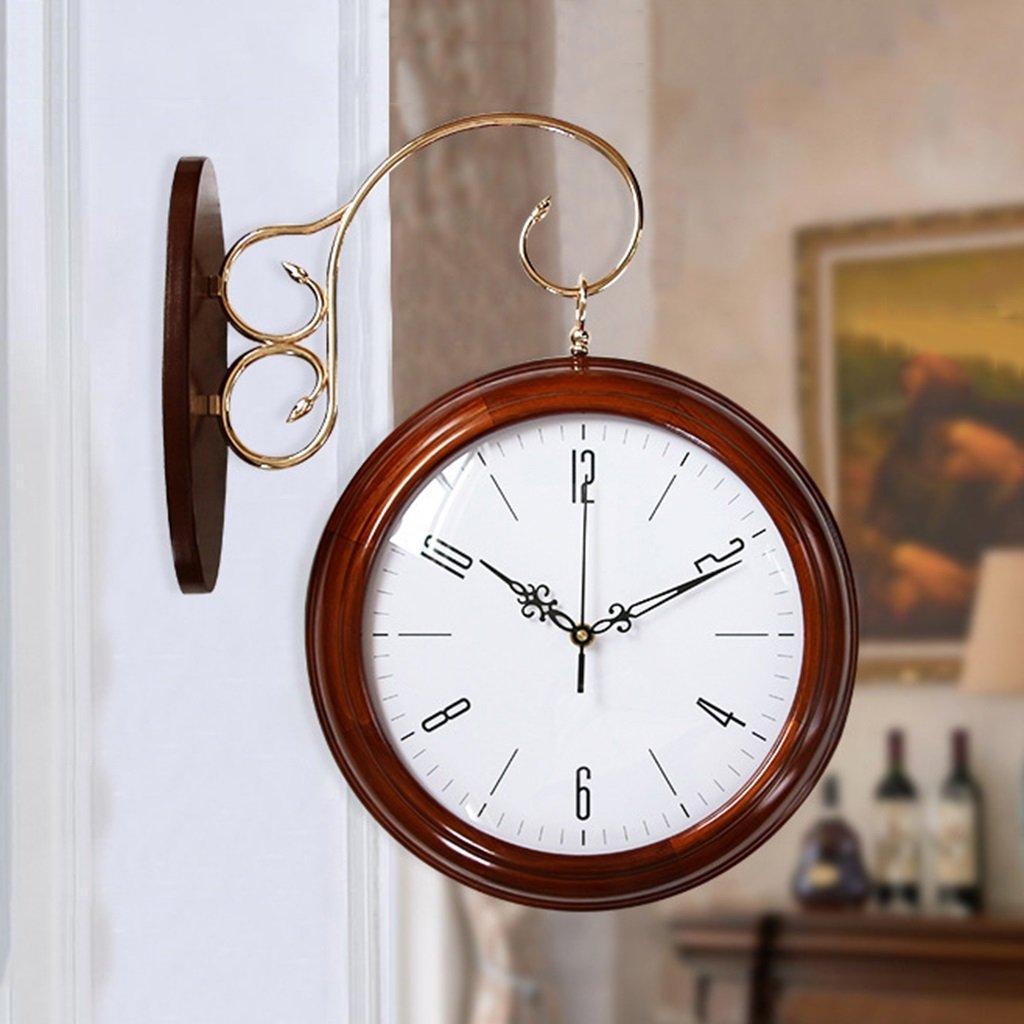 SUBBYE ウォールクロック 創造的な近代的なミニマリストウッド両面クォーツウォールクロック居間ホームクォーツ時計 ( 色 : #3 ) B0788LM9ST #3 #3