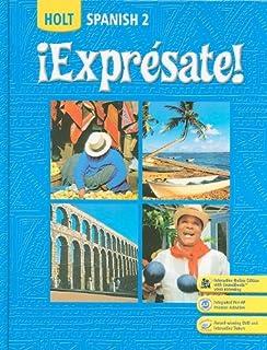 Amazon expresate spanish 3 9780030453724 rinehart and expresate spanish 2 holt spanish level 2 fandeluxe Choice Image