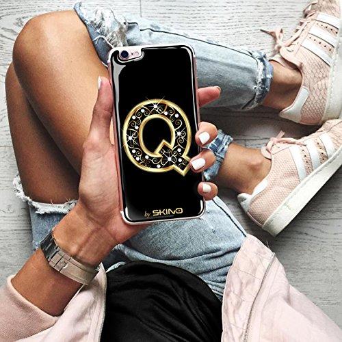 Skino™ Custodia Skin 3D Anti-Gravità Case Cover Resina Gel per iPhone 5 / 5s / 5 SE / 6/6 Plus / 6s / 6s Plus / 7/7 Plus Anti-Scratch Protezione 100% UV Antiscivolo Letter Gold Lettera Doro Q (iPhone
