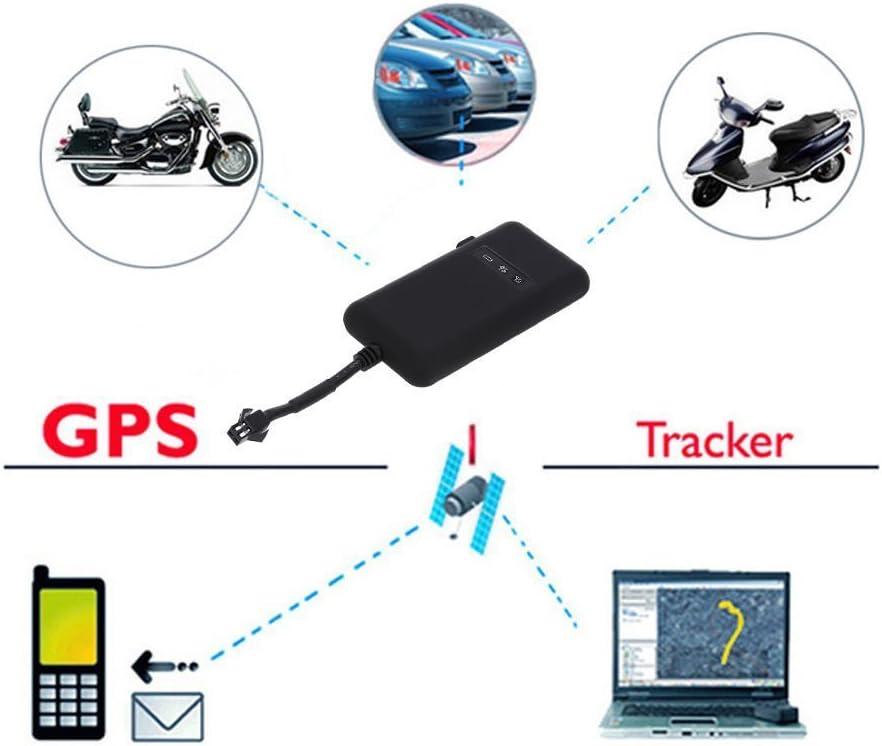 Hangang Veh/ículo Rastreador Localizador en Tiempo Real Seguimiento de GPS,Dispositivo de Seguimiento SMS Locator Global Tiempo Real para Coche Auto Veh/ículo Motocicleta Bycicle Scooter