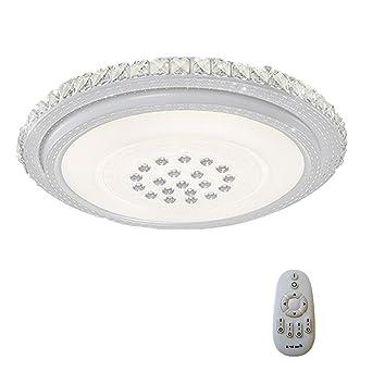 SAILUN® 36W LED Dimmable Rond Cristal Plafond Lumière LED Plafonnier ...