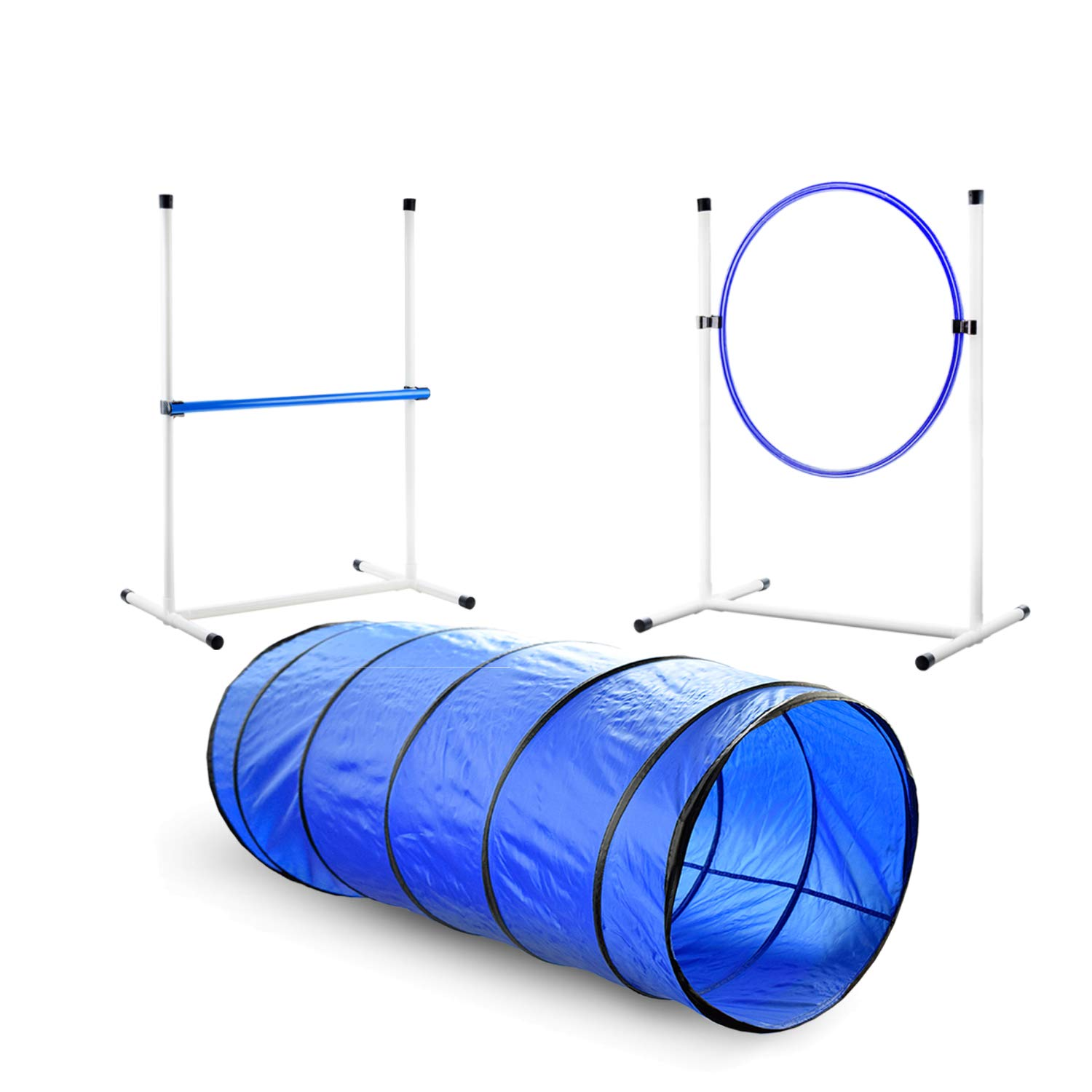 Better Sporting Dogs 3 Piece Essential Dog Agility Equipment Set | Agility Jump | Tire Jump | Tunnel by Better Sporting Dogs