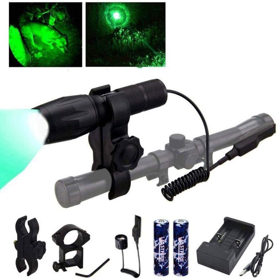 Red//Green//Blue//White 4 in 1 LED Flashlight Hunting Hog Light Predator Torch Lamp