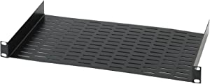 "Raxxess UNS1 Vented Universal Tray Shelf for 19"" Server, Bottom Slots for Mounting Non Half-Rack Equipment (RAX UNITRAY)"