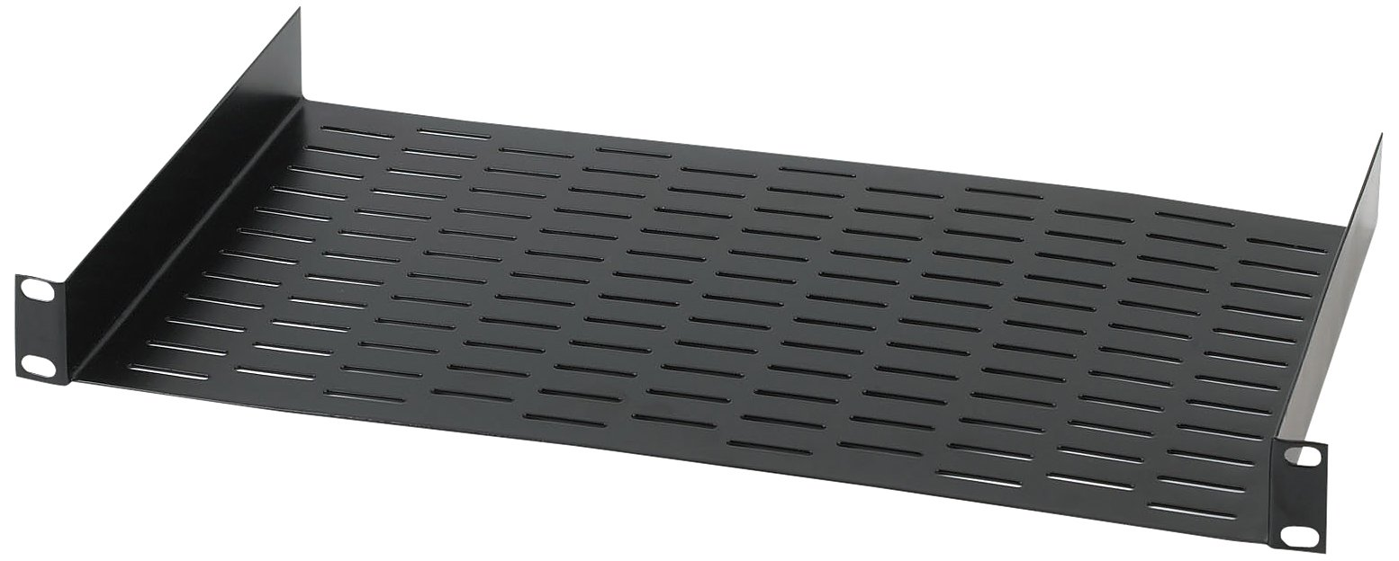 Raxxess RAX UNS1 Vented Universal Rack Tray Shelf for 19'' Server Racks, with Bottom Slots for Mounting Non-Rack and Half-Rack Equipment by Raxxess