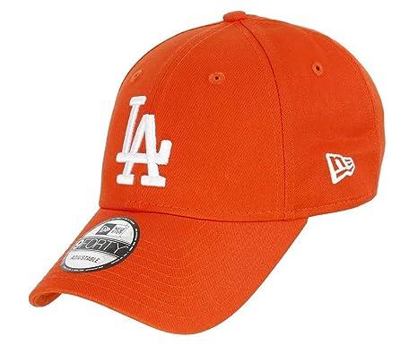 dbb3cee9524 New Era 9FORTY L.A. Dodgers Baseball Cap - MLB Orange Pack - Orange  Adjustable  Amazon.co.uk  Clothing