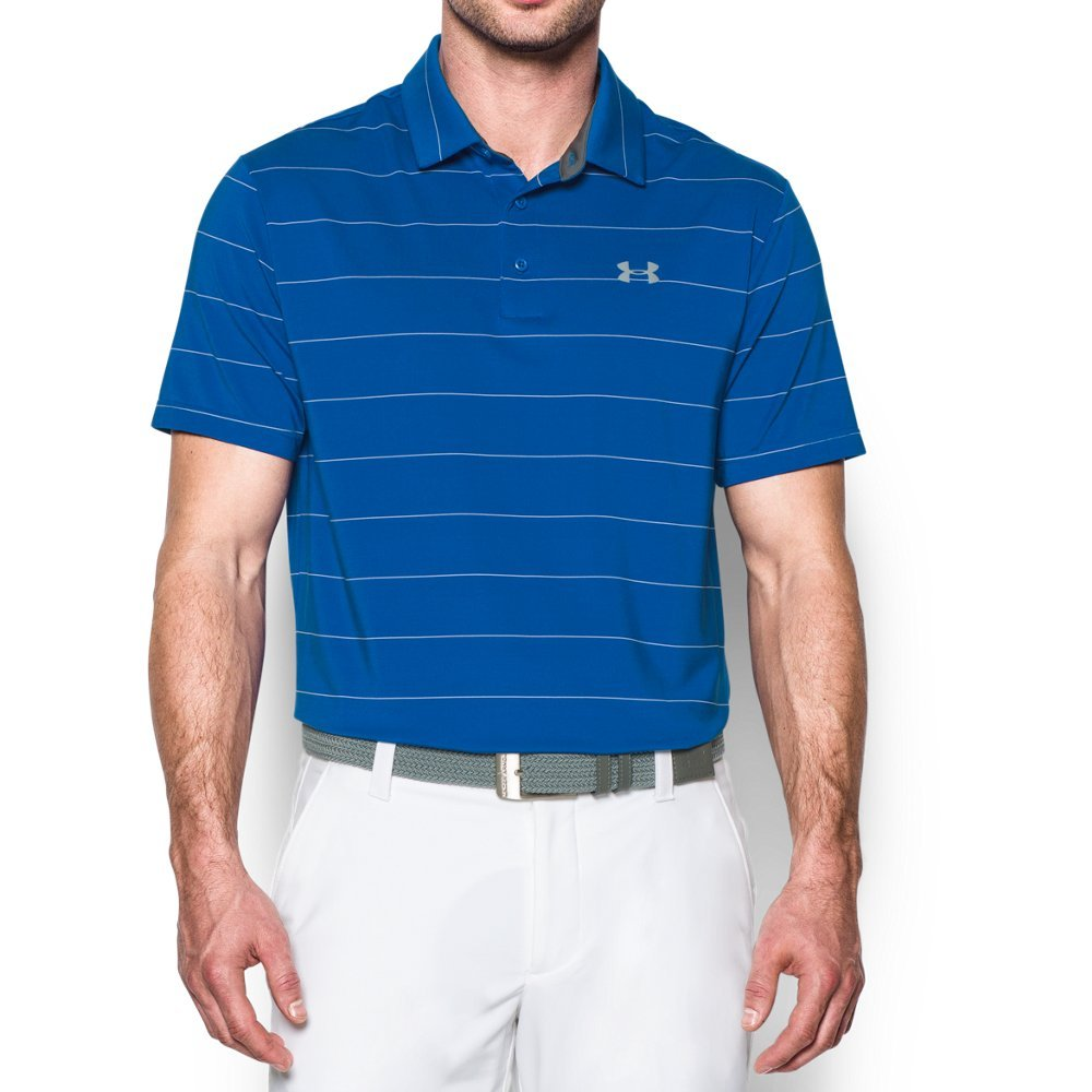 Under Armour Men's Playoff Polo, Blue Marker/Steel, Medium by Under Armour