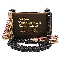 Deals on FateFan Black Wood Beads Garland with Tassels