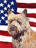 Caroline's Treasures LH9020CHF USA American Flag with Cairn Terrier Flag Canvas, Large, Multicolor