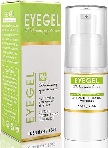 Eye Gel Hydrating Eye Serum Moisturizing Anti Aging Eye Cream for Puffy Eyes Dark Circles Eye Bags Wrinkles Eye Lifting and Firming