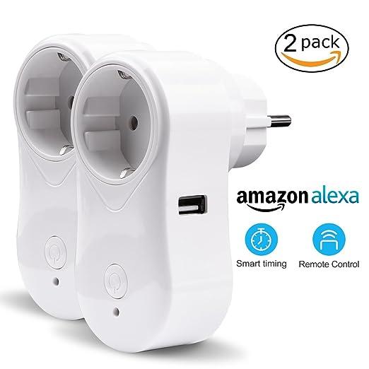 10 opinioni per VIFLYKOO Presa Intelligente WIFI (2-Pack) Smart Socket Plug Remoto Controllo