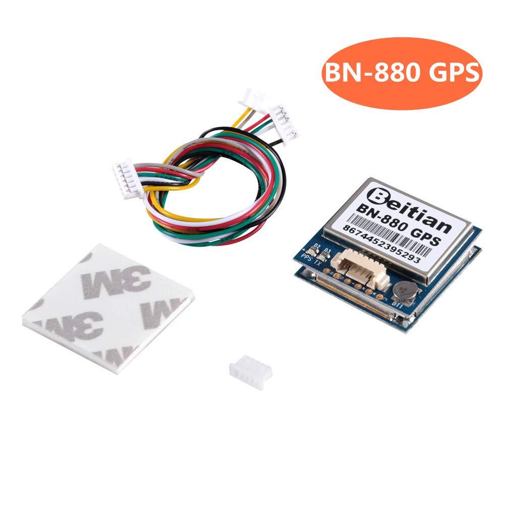 D-FLIFE BN-880 GPS Module U8 with Flash HMC5883 Compass GPS Active Antenna Support GPS Glonass Beidou Car Navigation for Arduino Raspberry Pi Aircraft Pixhawk APM Flight Controller
