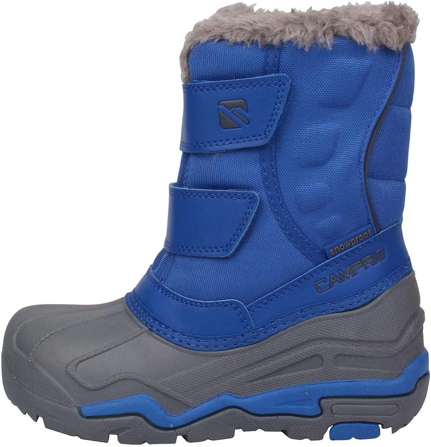 CAMPRI JUNIOR SNOW JOGGER BOOTS WINTER OUTDOOR WALKING NAVY LIGHT WEIGHT UK 6