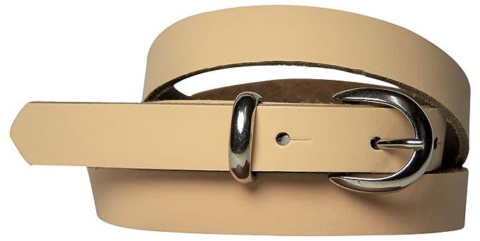 47700b33351 Fronhofer Ceinture pour femme en cuir véritable 2 cm fine ceinture boucle à  griffe passant métallique