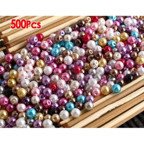500X 4mm Kugel Glas Perlen Beads Lose Schmuckteil Bunt