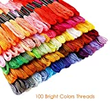 Caydo Embroidery Floss 100 Skeins Rainbow Color