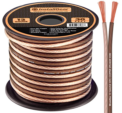 InstallGear 12 Gauge Speaker Wire - 99.9% Oxygen-Free Copper - True Spec and Soft Touch Cable ()