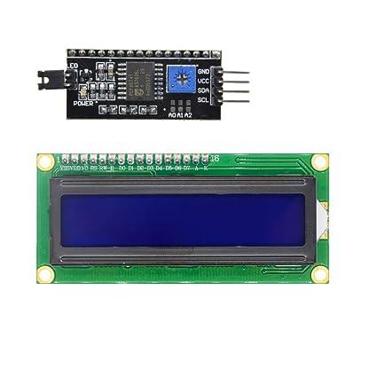 diymore 1602 LCD Shield 16X2 LCD Display Module Blue Backlight IIC I2C TWI  Serial Interface for Arduino UNO R3 MEGA2560