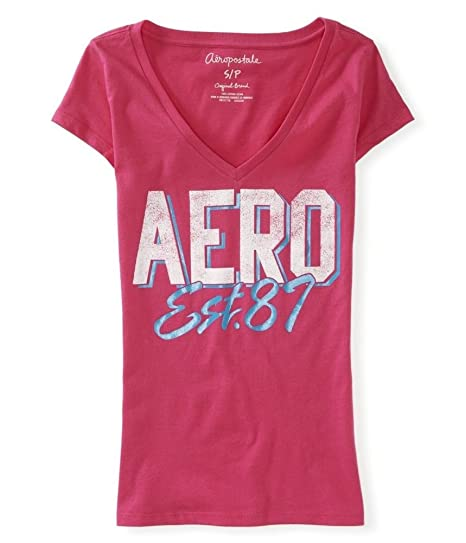 92abb6e5d7b7 Amazon.com: Aeropostale Womens Block Letter Graphic T-Shirt 662 XS: Clothing