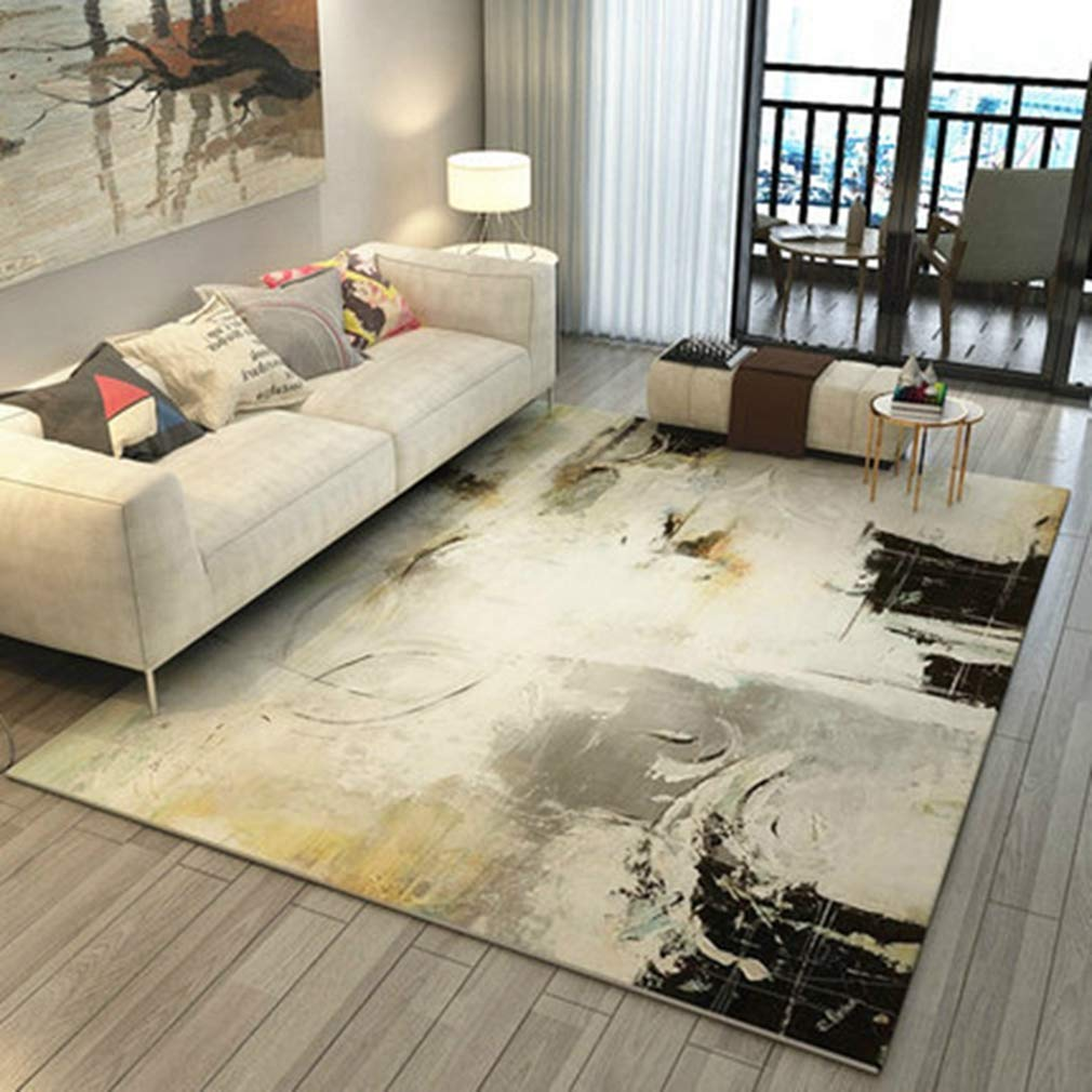 GIY Abstract Living Room Area Rugs Rectangular Carpets Children Crawling Bedroom Mats Home Decor Outdoor Indoor Runners 3' X 4'