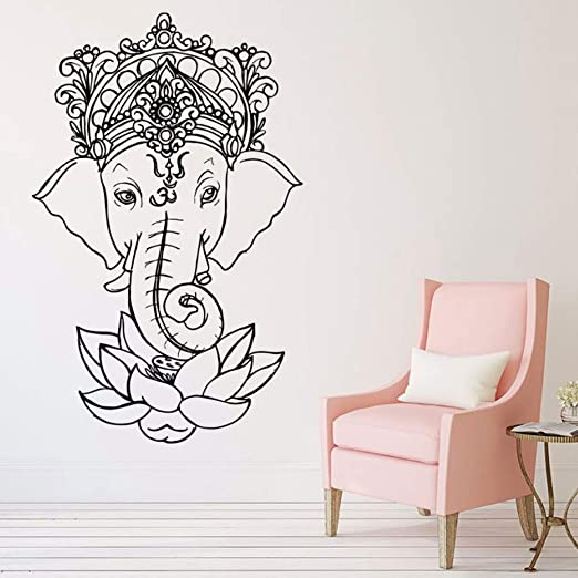 pegatina de pared pegatina de pared 3d Elefante Yoga Ganesh ...
