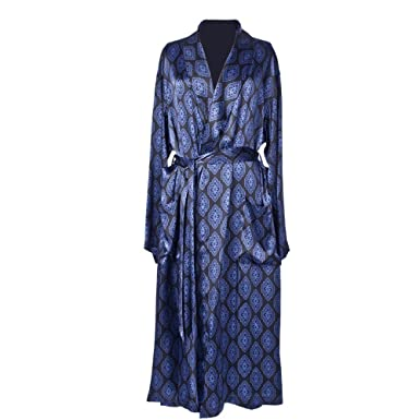 Daniel Hanson Silk Dressing Gown for Men: Amazon.co.uk: Clothing
