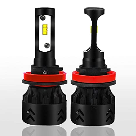 KOBWA Mini8-Philips H11 - Bombillas LED para Faros Delanteros de Coche (50 W
