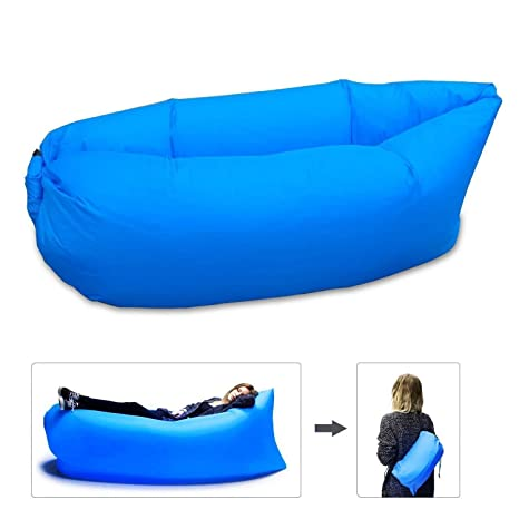kinine aire sofá cama hinchable playa saco de dormir portátil Lazy sofá, Bule