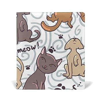 MALPLENA - Fundas para libros de dibujo de gatos, ideales para la ...