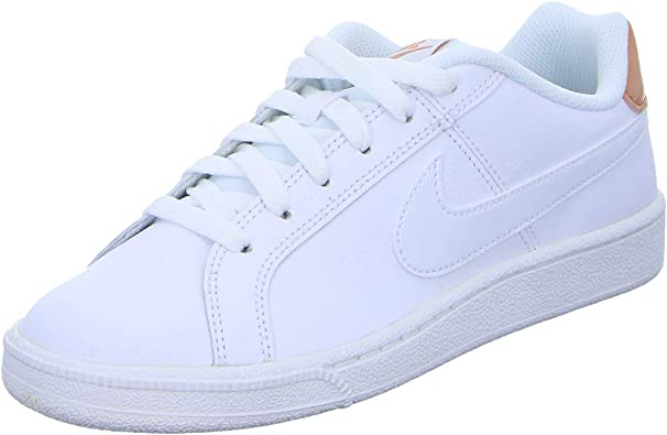 genuine shoes high fashion outlet store sale Nike Court Royale, Chaussures de Gymnastique Femme, Blanc/Blanc/Or ...
