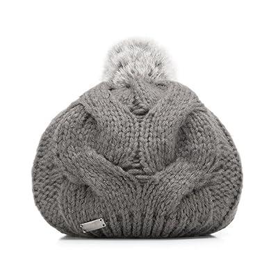 Wittchen Chapeau d'hiver | Couleur: Gris | Acrylique | La taille (cm): 20 | Collection: Accessoires d'hiver | 85-HF-019-8