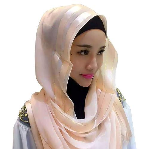 KINDOYO Mujeres Lady Moda Hermoso musulmán islámico largo Hijab Fular Bufanda Pañuelo para la cabeza...