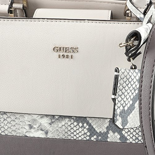 Guess Damen Cate Satchel Handtaschen, Einheitsgröße Taupe Multi