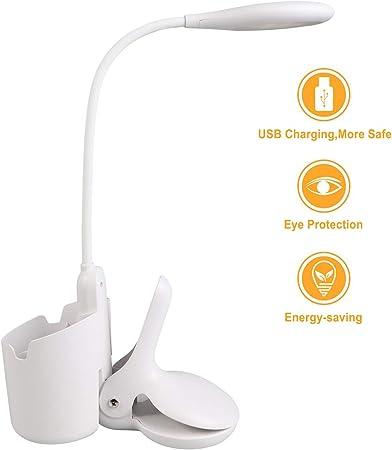 Lampe de bureau à led, lampe à pince portable et sans fil