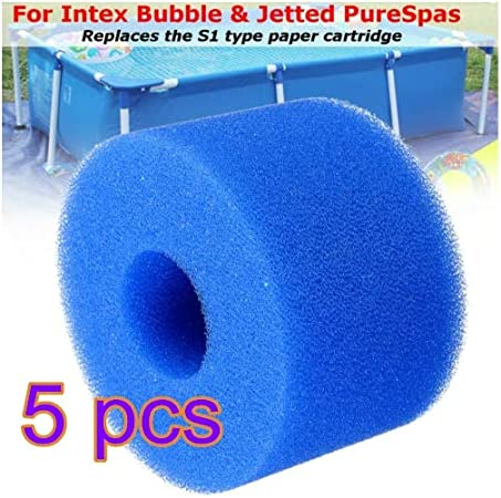 SUNJULY Reusable Washable Intex Pool Filter Foam Sponge Cartridge For Intex S1 Type SPA 10 2 cm Swimming Pool Filter Sponge 4