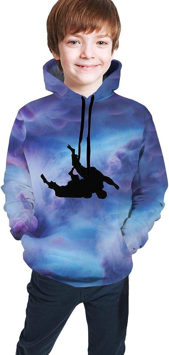 NFGrfd Flip Sequins Dinosaur Hip-Hop Pullover Hooded Sweatshirts Sports Outwear for Boys Girls Teens Junior