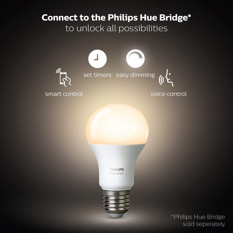 Philips Hue 8718696452523 Inteligente LED E27, Blanca, Posibilidad ...